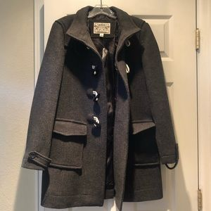 Banana Republic Gray Wool Peacoat Large